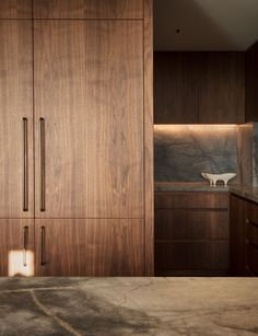 A apartment gets a modern new layout and look Bedroom Cupboard Designs, Wardrobe Design Bedroom, Bedroom Decor, Elegant Kitchens, House And Home Magazine, One Bedroom Apartment, Kitchen Design, Furniture Design, House Design