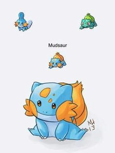 Mudkip Bulbasaur baby!  Cute! Pokemon<----- my two favorite starter Pokemon!! Too adorable!