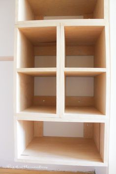 DIY Custom Closet Organizer: The Brilliant Box System This brilliant DIY custom closet organizer is not only easy to build, but makes creating your own custom closet configuration both simple and affordable! Diy Closet Shelves, Ikea Closet, Small Closet Organization, Laundry Closet, Closet Space, Organizing, Laundry Area, Closet Rod, Laundry Rooms