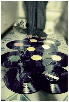Records on the floor. #music #records #vinyl http://www.pinterest.com/TheHitman14/for-the-record/