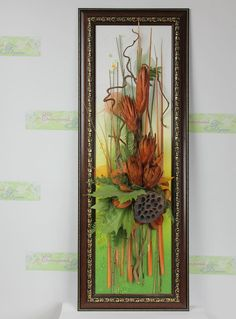 Коллаж из сухоцвета