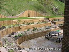 A Terraced Garden....would make a great vegetable garden...