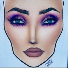 "_Valerie Vixen_♥ @valerievixenart ""Fuchsia Fac...Instagram photo 