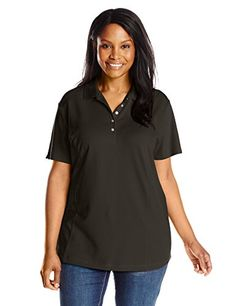 fa32a67de73 Riders by Lee Indigo Women s Plus-Size Morgan Short Sleeve Polo Shirt at Amazon  Women s Clothing store