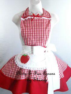 Little Red Riding Hood Apple Apron by sjcnace4 on Etsy, $55.00