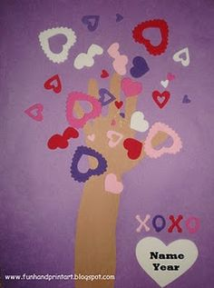 Handprint Tree of Love Craft-this would be cute with The Day it Rained Hearts.