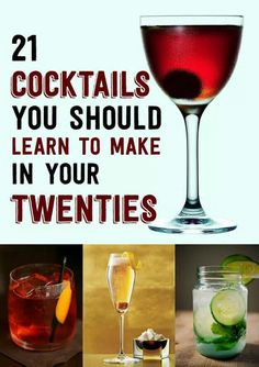 21 Cocktails You Should Learn To Make In Your Twenties