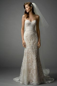 Watters: Bridal Gown: Fit and Flare | KleinfeldBridal.com