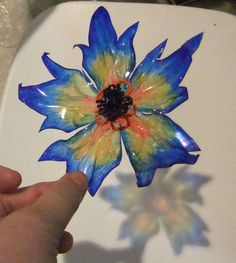 "Blue Star flower - Blue Star flower ""Blue Star flower Informations About Blue Star flower Pin You can easily use my - Reuse Plastic Bottles, Plastic Bottle Flowers, Plastic Bottle Crafts, Recycled Bottles, Recycled Crafts, Diy Crafts, Faux Flowers, Diy Flowers, Paper Flowers"