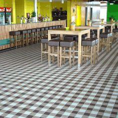 Checkerboard mix - 10x10cm #tiles by ETS WINCKELMANS  #tegels  http://tegels.nl/1109/tegels/lomme,-north/ets-winckelmans.html