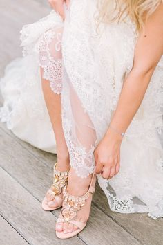 Sandals and lace