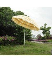 Parasol de plage jardin design hawai 160cm raphia artificiel beige neuf 25 - Aosom.fr - Aosom.fr