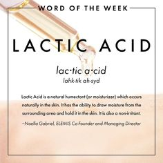 Word of the Week: Lactic Acid                                                                                                                                                                                 More