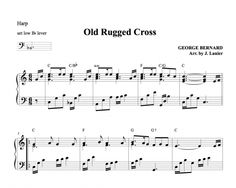 $1.50 Harp Music: Old Rugged Cross for Harp (intermediate to advanced version)
