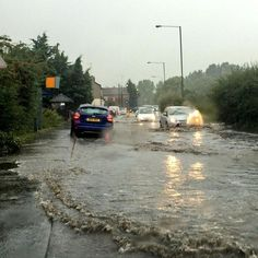 Dartford 2014 - Heavy rain and thunderstorms caused flooding in parts of Kent and south east London last night.
