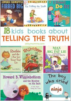 18 kids books about telling the truth kid books, children's books, lib Preschool Books, Book Activities, Sequencing Activities, Kindergarten Books, Kindergarten Readiness, Library Books, My Books, Books For Kids, Character Education