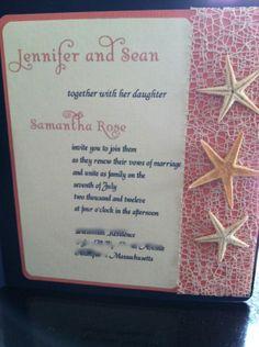Gorgeous DIY beach wedding invitations