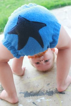 DIY fleece diaper cover from Blissfully Domestic.
