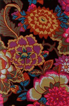Kaffe Fassett design - colour, loving his colours! Textile Patterns, Textile Prints, Textile Art, Print Patterns, Floral Prints, Pattern Art, Pattern Design, Art Plastique, Illustrations