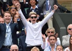 Niall in Wimbledon today (6/26/14)!!!! He looks so happy :)