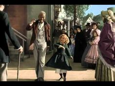 """famous dance routine w/Shirley Temple & Bill Bojangles Robinson in """"The Littlest Rebel"""", 1935"""