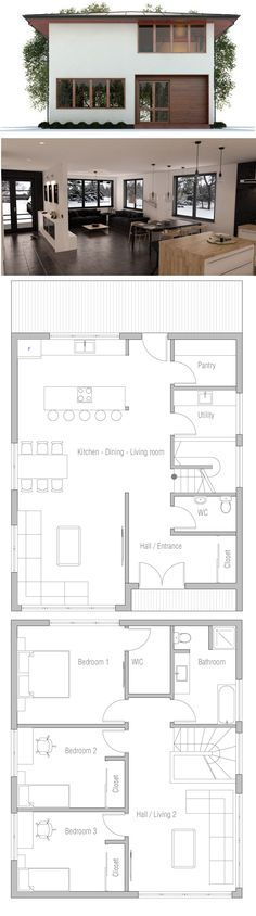 Astounding Small House Plan Small House Plans Pinterest Front Windows Largest Home Design Picture Inspirations Pitcheantrous