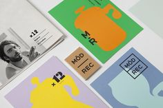 Graphic identity by Blok for subscription coffee service Modern Recreation