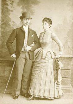 Sister of Marion Sambourne Ada (Tabby) with her husband Hamilton Fletcher