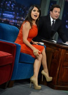 "Salma Hayek - ""Late Night with Jimmy Fallon"" appearance in New York, October 12, 2012 photo 360919"