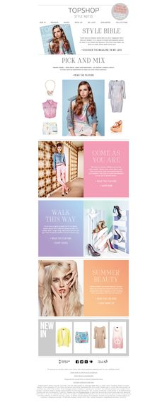 TopShop   30/03/12  Our new magazine is full of bright & beautiful pieces