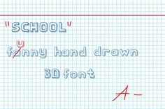 school font by NikSorl on @creativemarket