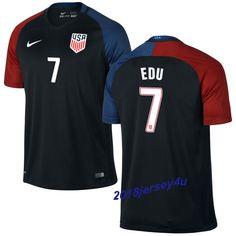 Maurice Edu 7 2016 COPA America Centenario USA Men's Away Soccer Jersey