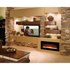 Essex Crystal Wall Mounted Electric Fireplace