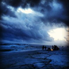A Christmas Eve bonfire on the beach: now there's a holiday tradition. | floridatravellife.com