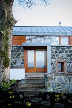 Stone and Glass Barn: Contemporary Style for a Traditional Building   DesignRulz.com