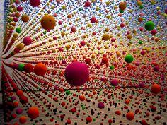 Crazy balls on wire.