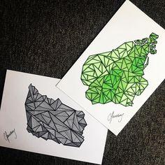Skønne øer 💚#bornholm#amager#geography#chandberg#nybyggerne#rødthus#cecilieogjonas#art#artist#artwork#draw#drawing#illustration#illustrator#original#unik#nybyggerne2017#indretning#tegnetid#migtid#handmade