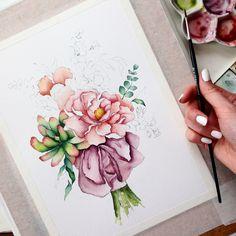 Spring watercolor 🌸 #art #открытка #sketch #picture #рисуюкаждыйдень #drawing  #artist  #illustration #love #подарок #акварель #художник #иллюстрация #ручнаяработа #дизайн #скетч #handmade #рисунок #watercolor #брошь #любовь