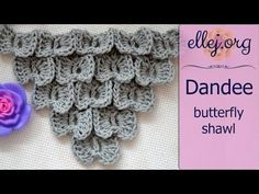 """How to Crochet Dandee Butterfly Stitch ○ Free Step by Step Crochet Tutorial. When I made the Tutorial on the well-known pattern """"Scales"""" or """"Crocodile Stitch"""" and even then I thought, what can we do, how to crochet the triangular form fabric. Crochet Crocodile Stitch, Crochet Stitches Free, Crochet Bows, Crochet Motif, Crochet Crafts, Crochet Projects, Crochet Tutorials, Free Crochet, Butterfly Stitches"""