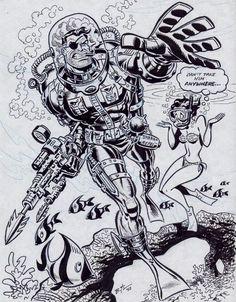 Comic Book Artists, Comic Artist, Comic Books Art, Bruce Timm, Marvel Comics, Marvel Art, Comic Frame, Jack Kirby Art, Bristol Board