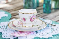 High-tea party :: table setting