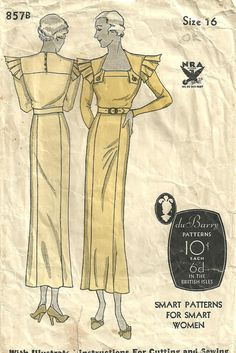 Vintage 1930s Sewing Pattern From DuBarry 857 by studioGpatterns