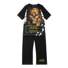 Star Wars Boy's black 'Chewbacca' pyjama set- at Debenhams.com