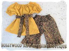 Custom Boutique Clothing Leopard Mustard by ZamakerrClothingCo,