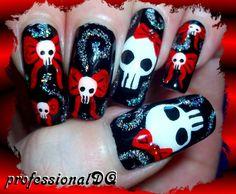 SKULL HALLOWEEN #nail #nails #nailart