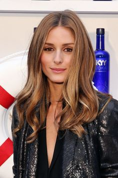 Olivia Palermo, honey brown with honey blonde highlights.