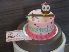 Owl Cake - So cute! I love the buttercream icing instead of fondant for children. Made by us at www.cakestar.com.au  Jade Lipton xx
