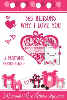 This  PRINTABLE DIY kit of 365Reasons Why I Love You is excellent PERSONALIZED romantic gift for him (sentimental gift for boyfriend)! Please visit our website to buy it now! #lovenotes #reasonsiloveyou  #whyiloveyou #romanticgifts #sentimentalgifts #giftsforboyfriend #DIYgifts #romanticloveletterss Sentimental Gifts For Men, Thoughtful Gifts For Her, Romantic Gifts For Him, Personalized Gifts For Men, Meaningful Gifts, Handmade Gifts, Unique Gifts, Homemade Gifts For Girlfriend, Diy Gifts For Boyfriend
