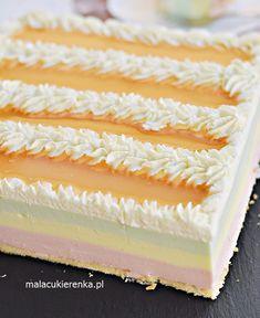 Ciasto Rajska Pianka – Ciasto Urodzinowe PRZEPIS – Mała Cukierenka Polish Desserts, Polish Recipes, Cake Recipes, Dessert Recipes, Cheesecake, Food Cakes, Homemade Cakes, Baking Tips, Relleno