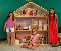 18 inch doll house ideas | ... Dollhouse Allows Girls to Build Their Own Dollhouse for 18-inch Dolls